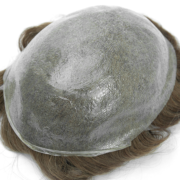 Natural Front Hairline Toupee Hair Piece For Men Best Mens Thin Skin Hair Replacement System #7