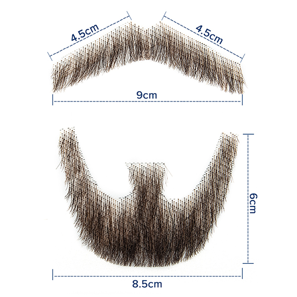 Lace Beard Fake Beard For Men Mustache Hand Made By Real Hair Barba Falsa Cosplay Synthetic Lace Invisible Beards