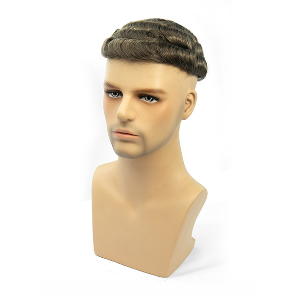 Real Hairline Mens Toupee Hair Replacement System High-quality Thin Skin Hair Piece For Men #6