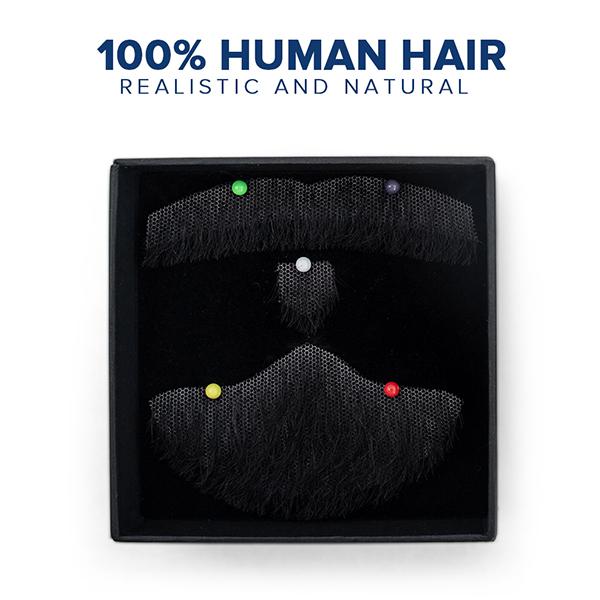 Mens fake beard 100% human hair trend style star fashion lace beard wear directly