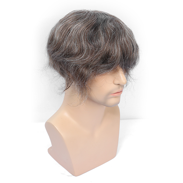 Undetectable Toupee Hair Piece Full Thin Skin V-Looped Natural Hair Replacement System For Men #440