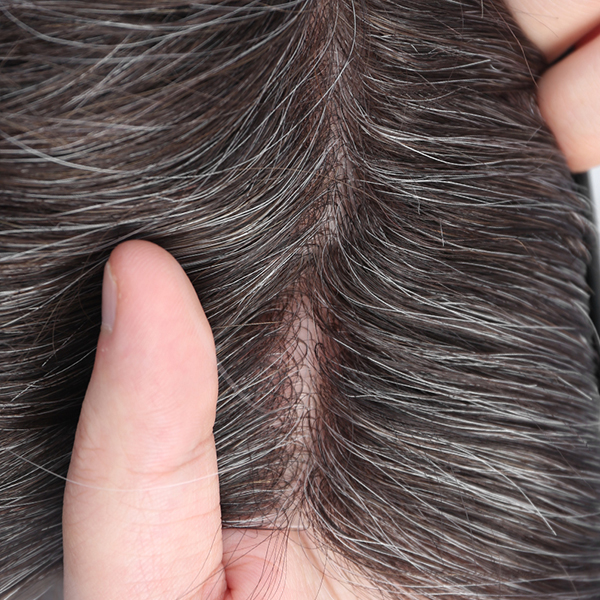 Thin Skin Hair Toupee For Men V-looped Men's Hair Pieces In Stock #230