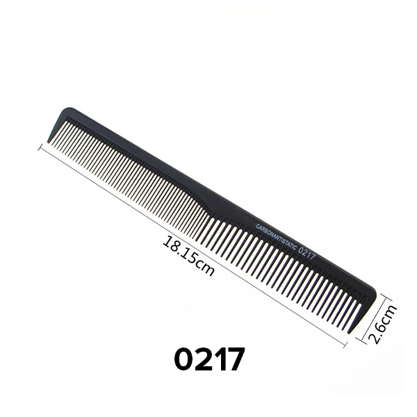 Salon Hair Comb General Styling Grooming Comb Anti Static Heat Resistant Hairdressing Comb Fine and Wide Tooth Hair Barber Comb Rat Tail Comb