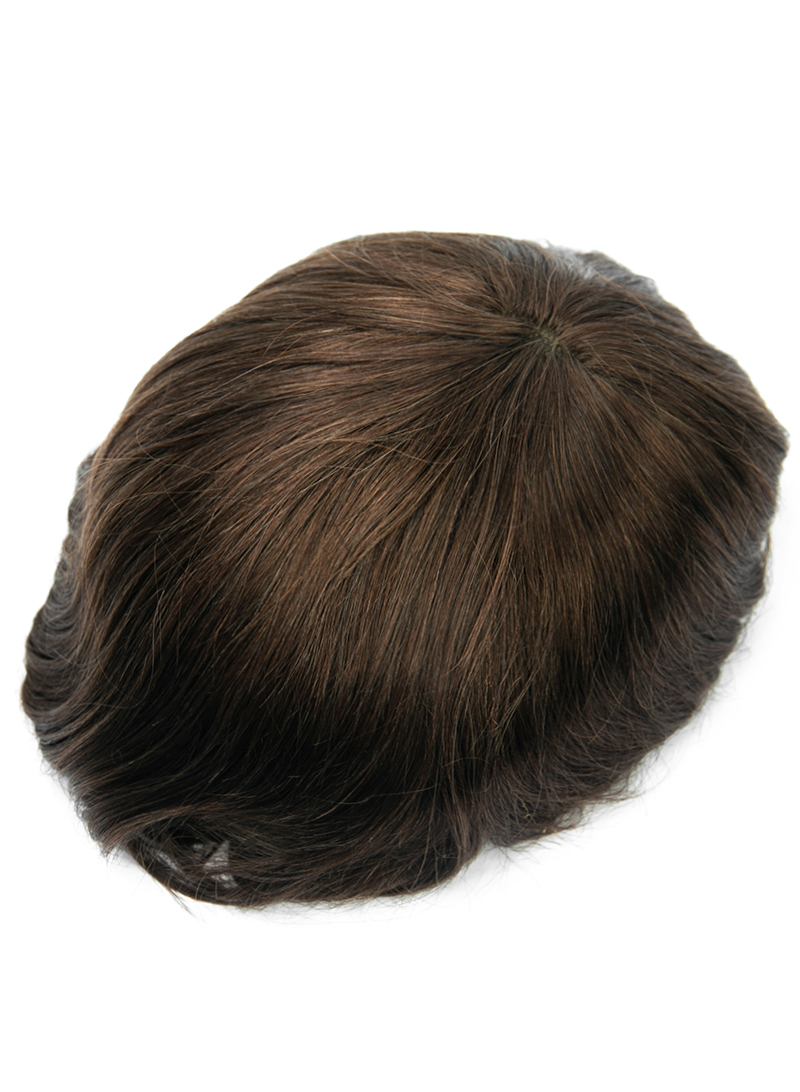 High Quality Thin Skin Mens Toupee Hair Replacement System Most Natural Toupee Hair Piece For Men #3
