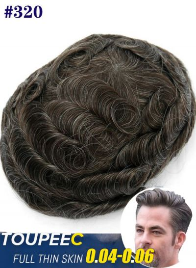 Toupeec Fine Mono with Thin Skin and Lace Front Custom Hair Toupee For Men - mens toupee hair