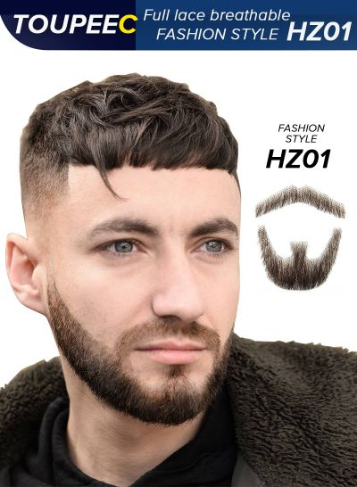 Lace Beard Fake Beard For Men Mustache Hand Made By Real Hair Barba Falsa Cosplay Synthetic Lace Invisible Beards - mens toupee hair