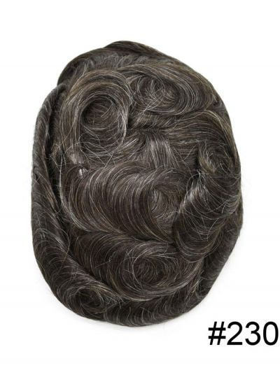 Best Thin Skin Hair System For Men Most Natural Front Hairline Undetectable Toupee Hair V-Looped