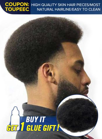 Mens Thin Skin Hair System African Americans Hair Toupee For Men