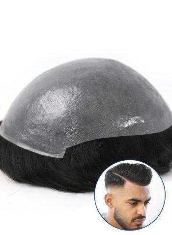 Men's Toupee Super Thin Skin Base Mens Human Hair Pieces