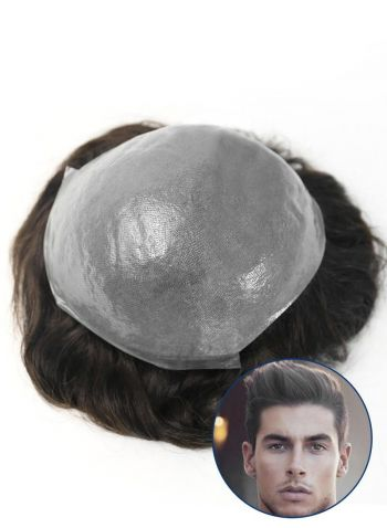 SuperSkin Mens Toupee  Super Thin Skin Custom Hair Pieces For Men