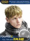 Men's Super Toupee Hair Thin Skin Medium Density Stock Hair System for Men