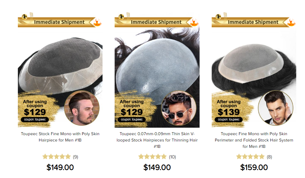 Non-surgical hair toupee cost: great discount hair systems