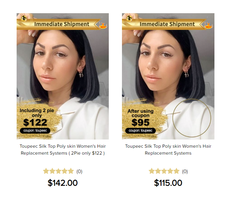 Cost of non-surgical hair system: Women's hair systems