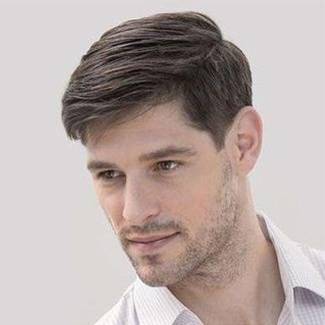 Stock Hair System For Men Thin Skin V-looped Men's Toupees Set( 4 Pcs $679,only $170 Per Unit)