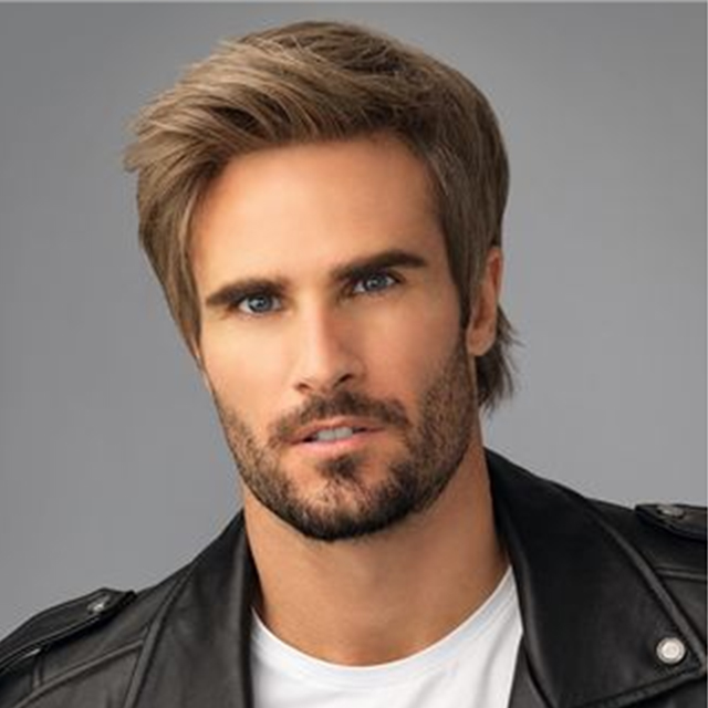 Stock Mens Toupee 0.07-0.09 mm Thin Skin V-looped Hairpieces for Thinning Hair Set( 4 Pcs $508,only $127 Per Unit)