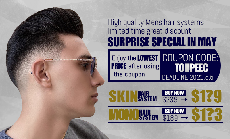 Hair styling service of mens hair pieces