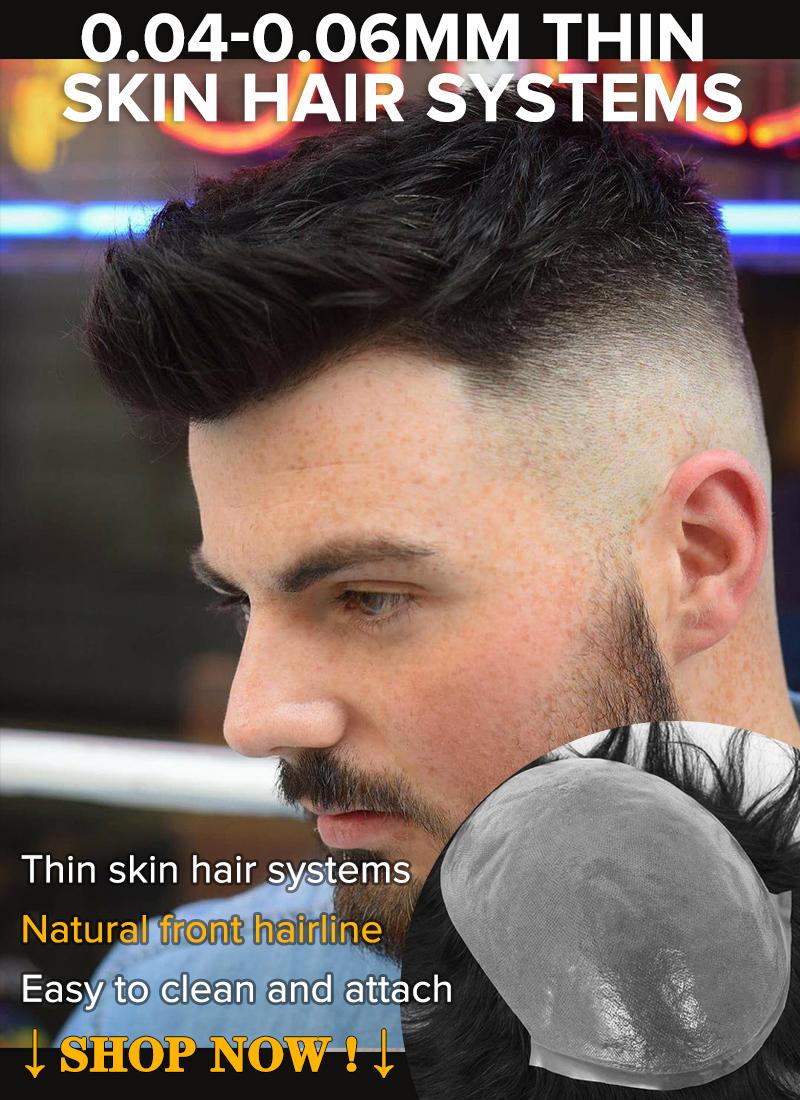 0.04-0.06mm thin skin hair systems